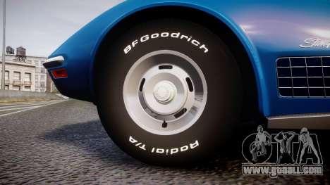 Chevrolet Corvette ZR1 1970 [EPM] for GTA 4 back view