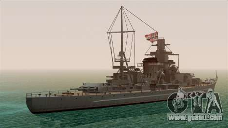 Scharnhorst Battleship for GTA San Andreas left view