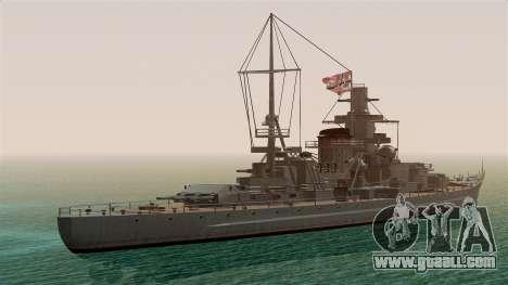 Scharnhorst Battleship for GTA San Andreas left view