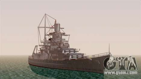 Scharnhorst Battleship for GTA San Andreas