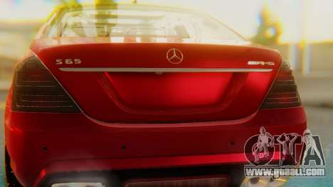 Mercedes-Benz S65 for GTA San Andreas inner view