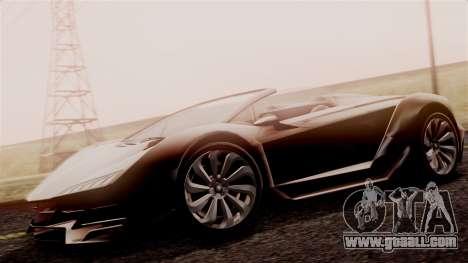 Pegassi Zentorno Cabrio v2 for GTA San Andreas