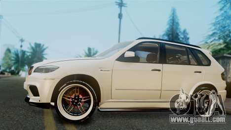 BMW X5M 2014 E-Tuning for GTA San Andreas back left view
