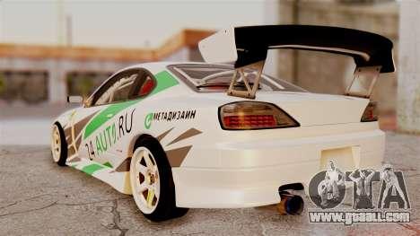 Nissan Silvia S15 24AUTORU for GTA San Andreas left view