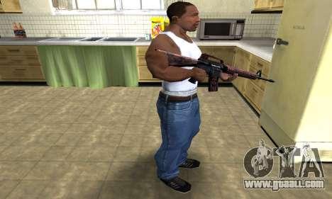 Brown Jungles M4 for GTA San Andreas third screenshot