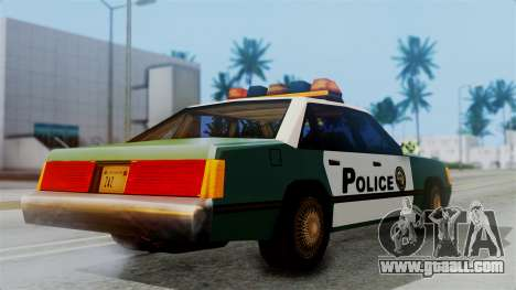 SAPD Cruiser for GTA San Andreas back left view