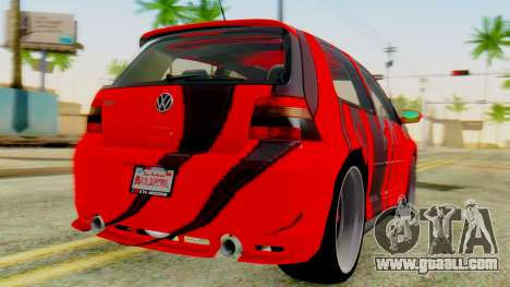 Volkswagen Golf R32 Edition Tribal for GTA San Andreas left view