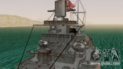 Scharnhorst Battleship for GTA San Andreas right view