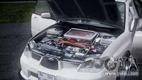 Subaru Impreza for GTA San Andreas inner view