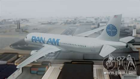Airbus A320-200 Pan American World Airlines for GTA San Andreas left view