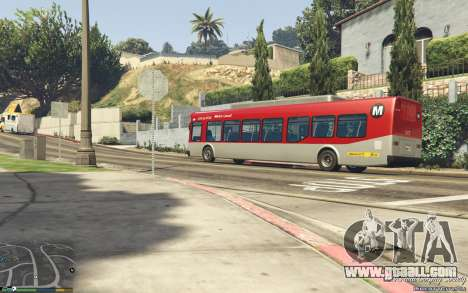 GTA 5 New Bus Textures v2 rear right side view
