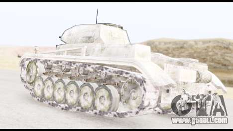 Panzerkampwagen II Snow for GTA San Andreas left view