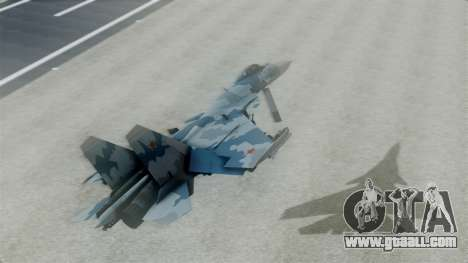 Sukhoi SU-33 Flanker-D for GTA San Andreas back left view