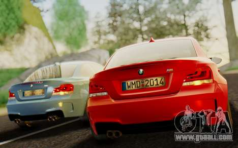 BMW 1M E82 for GTA San Andreas back left view