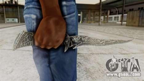 Ebony Dagger for GTA San Andreas third screenshot