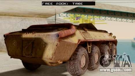 БТР-70 Rust from S.T.A.L.K.E.R. for GTA San Andreas left view