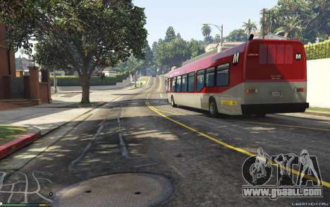 GTA 5 New Bus Textures v2 back view