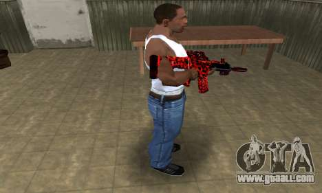 Red Leopard M4 for GTA San Andreas third screenshot