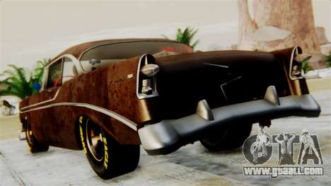 Chevrolet Bel Air 1956 Rat Rod Street for GTA San Andreas left view