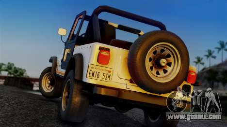 Jeep CJ-7 Renegade 1982 for GTA San Andreas left view