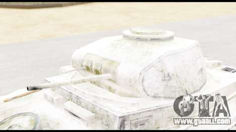 Panzerkampwagen II Snow for GTA San Andreas right view