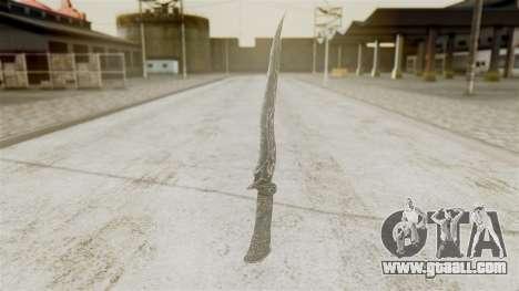 Ebony Dagger for GTA San Andreas