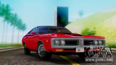 Dodge Charger Super Bee 426 Hemi (WS23) 1971 for GTA San Andreas back view
