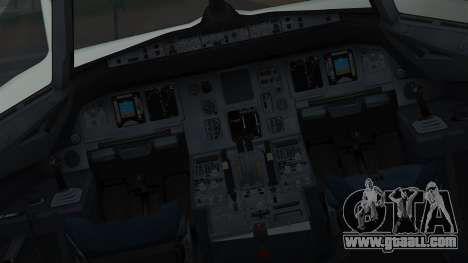 Airbus A320-200 Pan American World Airlines for GTA San Andreas inner view