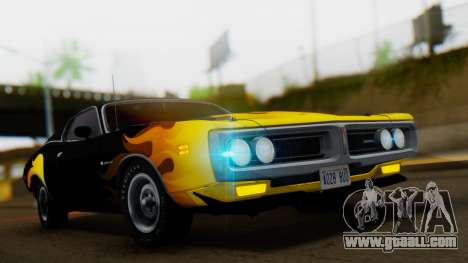 Dodge Charger Super Bee 426 Hemi (WS23) 1971 for GTA San Andreas inner view