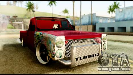 Nissan Junior Tuned for GTA San Andreas back left view