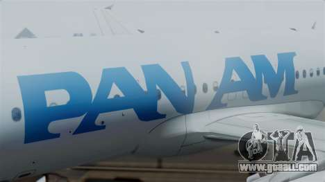 Airbus A320-200 Pan American World Airlines for GTA San Andreas right view