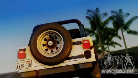 Jeep CJ-7 Renegade 1982 for GTA San Andreas right view