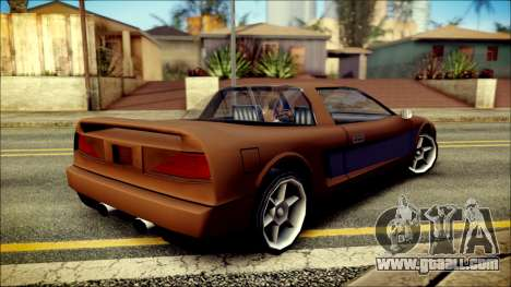 Infernus New Edition for GTA San Andreas left view