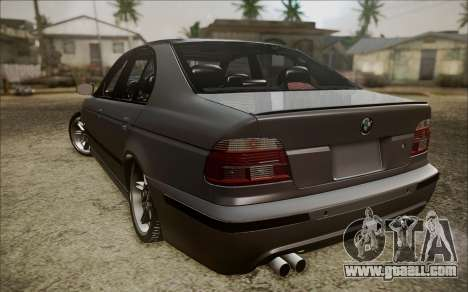 BMW M5 E39 E-Design for GTA San Andreas back left view