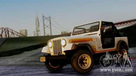 Jeep CJ-7 Renegade 1982 for GTA San Andreas