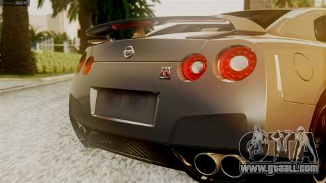Nissan GT-R R35 for GTA San Andreas inner view