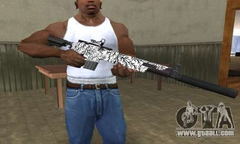 Black Lines Rifle for GTA San Andreas