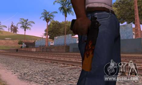 Deagle Flame for GTA San Andreas forth screenshot