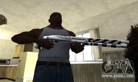 Black Lines Shotgun for GTA San Andreas