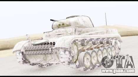 Panzerkampwagen II Snow for GTA San Andreas