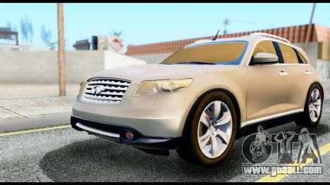 Infiniti FX45 for GTA San Andreas