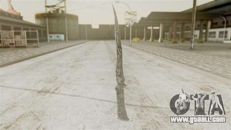 Ebony Dagger for GTA San Andreas second screenshot