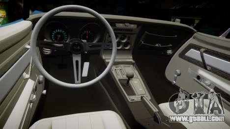 Chevrolet Corvette ZR1 1970 [EPM] for GTA 4 inner view