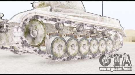 Panzerkampwagen II Snow for GTA San Andreas back left view