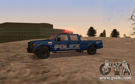 Ford F-250 Incident Response for GTA San Andreas left view
