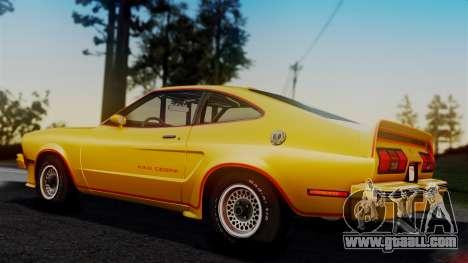 Ford Mustang King Cobra 1978 for GTA San Andreas interior