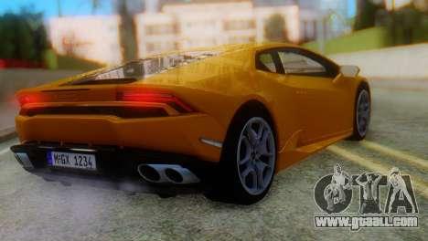 Lamborghini Huracan 2015 Horizon Wheels for GTA San Andreas left view