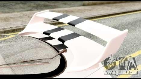 Toyota Supra Full Tuning v2 for GTA San Andreas back view