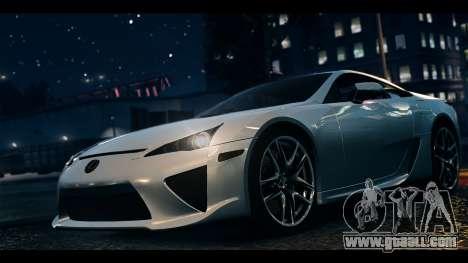 Lexus LF-A 2010 EPM for GTA 4 back left view