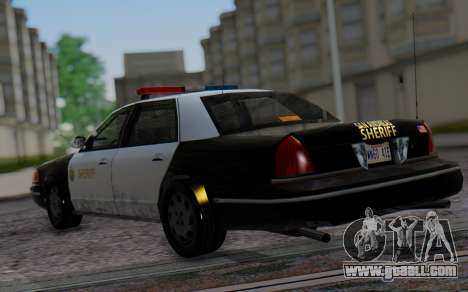 Ford Crown Victoria Sheriff for GTA San Andreas left view